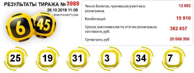 Тираж 3989