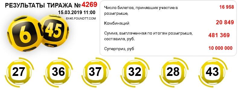 Тираж 4269
