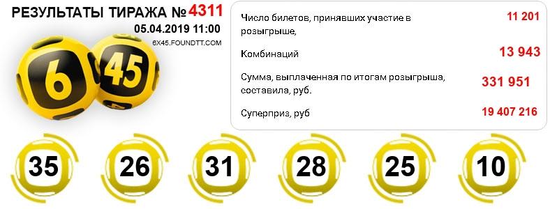 Тираж 4311