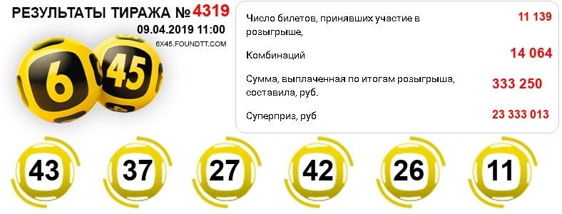 Тираж 4319