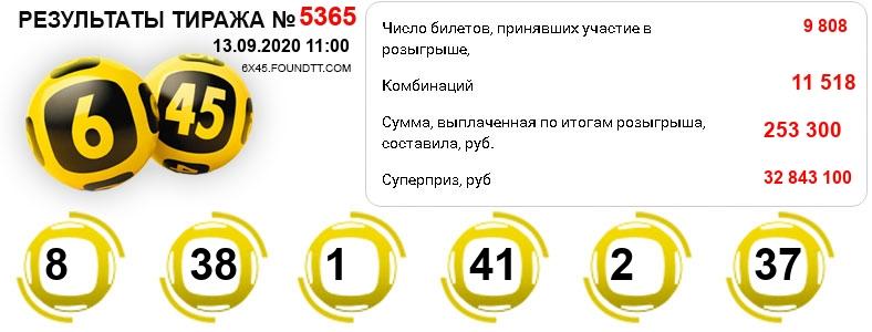 Тираж 5365