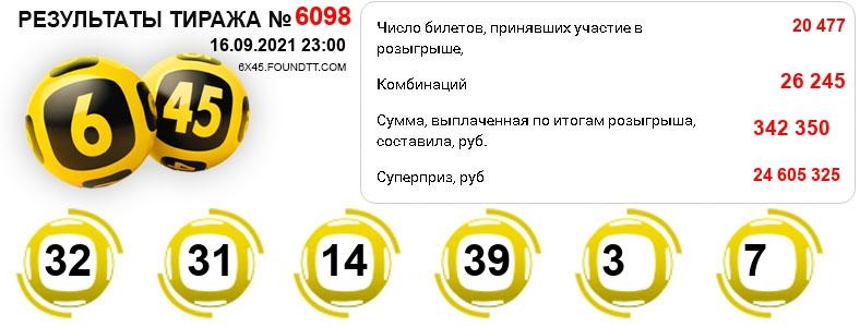 Тираж 6098